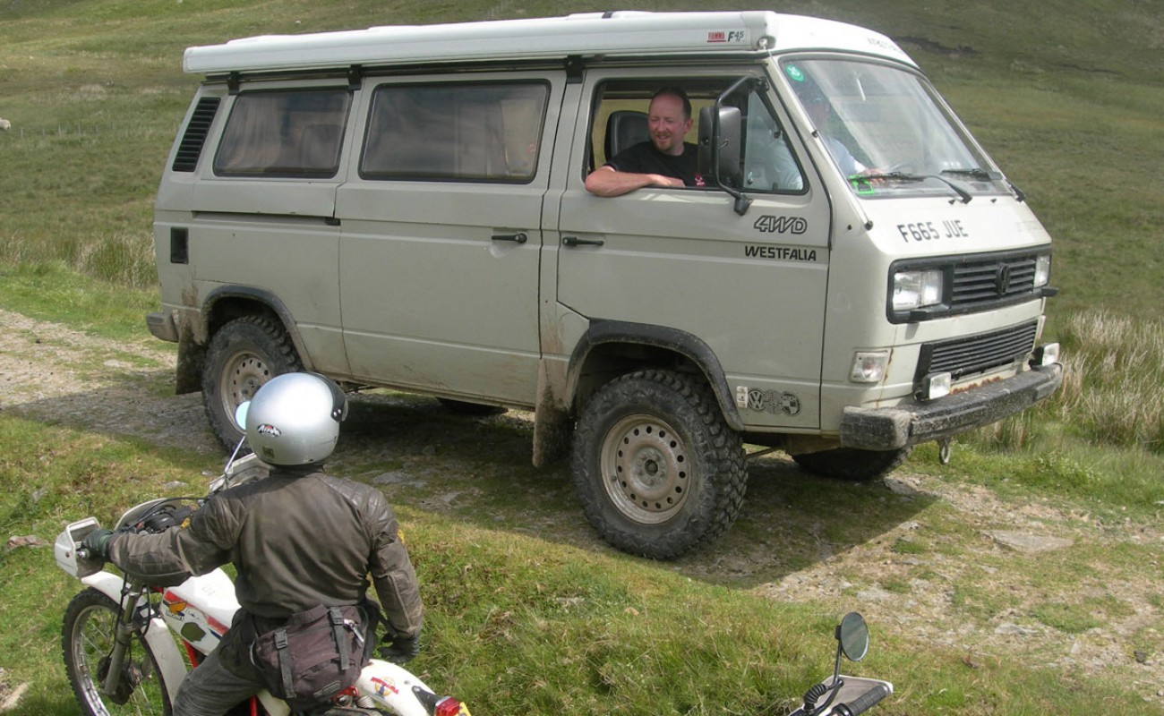 06 The VW seemed just a capable as Land Rover – Those which use the pass are well prepared well driven and cause hardly any if any more damage than a trail bike