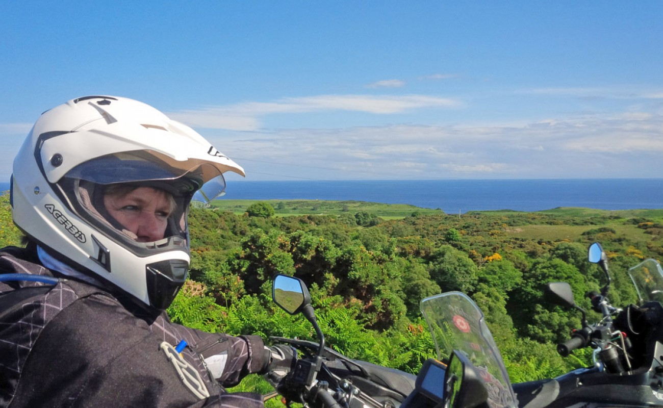 Byway-Tour-Carla-looking-over-the-East-coast-of-Scotland