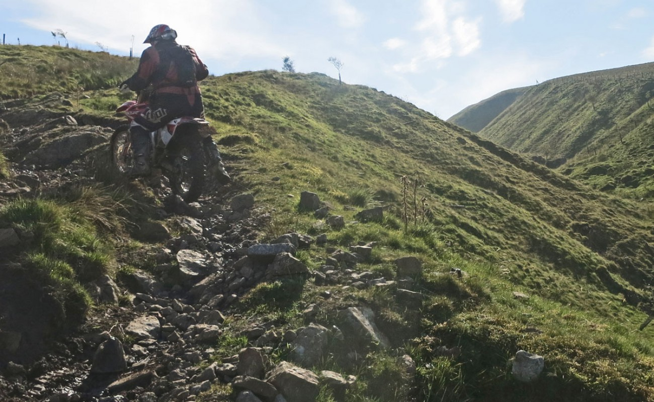 Trail riding on the edge of the Roman Empire
